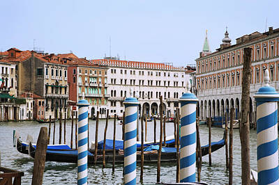 Italy, Venice View Of The Grand Canal Art Print by Jaynes Gallery