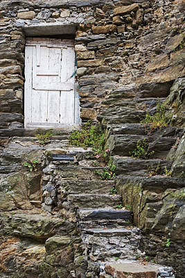 Italy, Vernazza Rock Steps Lead To An Art Print