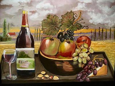 Grapeleaves Painting - Italy's Favorite by Arlen Avernian Thorensen