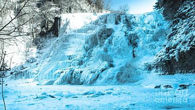 Ithaca Falls In Winter Art Print