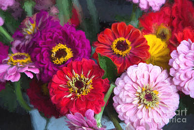 Finger Lakes Digital Art - Farmer's Market Flowers II by Michele Steffey