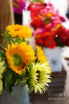 Finger Lakes Digital Art - Farmer's Market Flowers by Michele Steffey