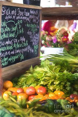 Farmer's Market Produce Stall II Print by Michele Steffey