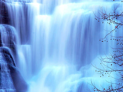 Park Scene Digital Art - Ithaca Water Falls New York  by Paul Ge