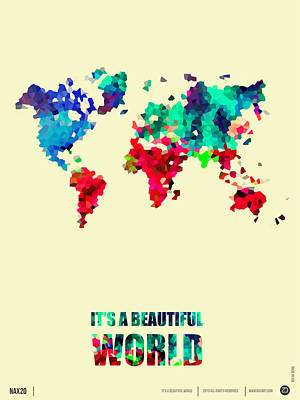 Amusing Digital Art - It's A Beautifull World Poster 2 by Naxart Studio