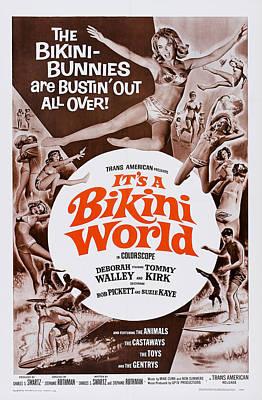 1967 Movies Photograph - Its A Bikini World, Us Poster Art, 1967 by Everett