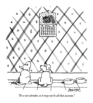 It's A Cat Calendar Art Print