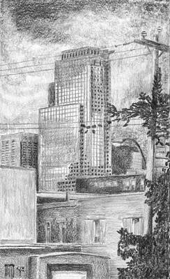 Montreal Cityscapes Drawing - It's A Different World by Duane Gordon