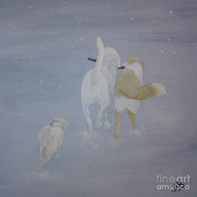 Dog Painting - It's A Dogs Life by Janice M Booth