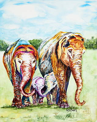 Painting - It's A Family Affair by Maria Barry
