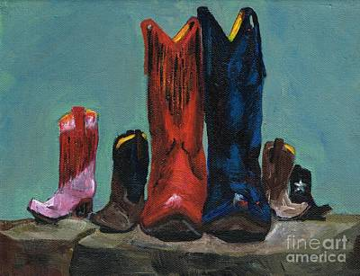 Cowgirl Boots Painting - It's A Family Tradition by Frances Marino