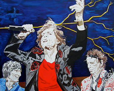 Mick Jagger And Keith Richards Painting - It's A Gas by Stuart Engel