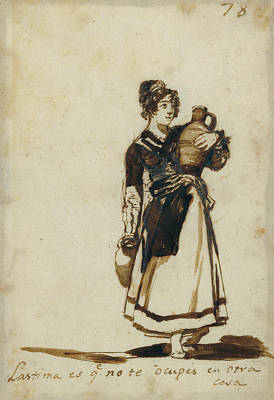 Sepia Ink Drawing - Its A Pity You Dont Have Something Else To Do Francisco by Litz Collection