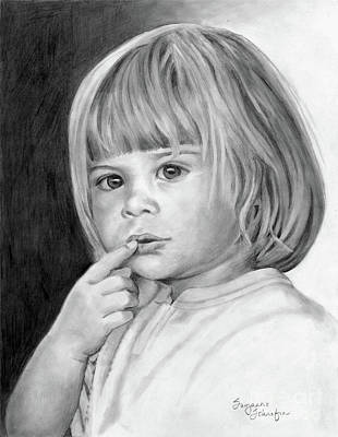 Drawing - It's A Secret by Suzanne Schaefer