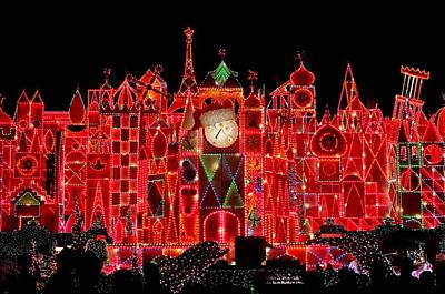 Disney Photograph - It's A Small World Christmas by Benjamin Yeager