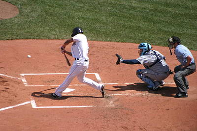 Redsox Photograph - Its A Strike Or A Home Run by Liam Millette