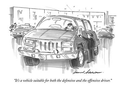 It's A Vehicle Suitable For Both The Defensive Art Print by Bernard Schoenbaum