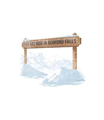 Bedford Digital Art - Its A Wonderful Life - Bedford Falls by Brand A