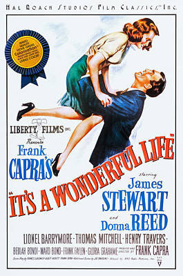 Films By Frank Capra Photograph - Its A Wonderful Life, L-r Donna Reed by Everett
