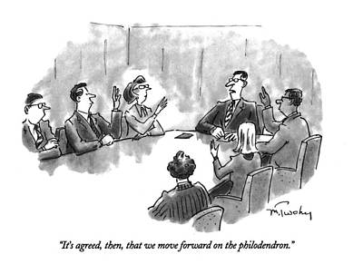 Boardroom Drawing - It's Agreed by Mike Twohy