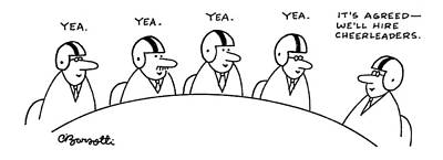 All Sports Drawing - 'it's Agreed - We'll Hire Cheerleaders.' by Charles Barsotti