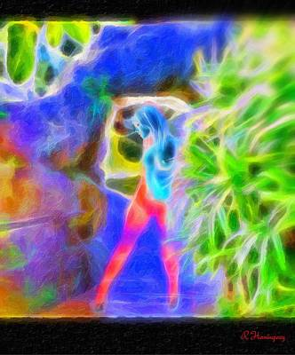 Unclothed Digital Art - Its All About The Color by Richard Hemingway