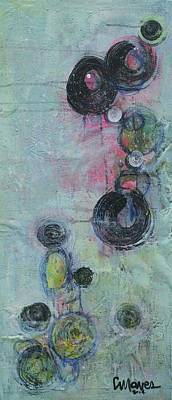 Painting - It's All About The Message Circles by Laurie Maves ART