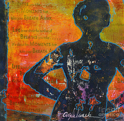Mixed Media - It's All About The Moments by Angela L Walker