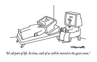 Aging Drawing - It's All Part Of Life.  In Time by Charles Barsotti