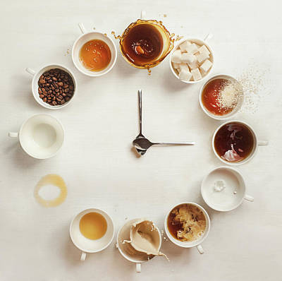 Cube Photograph - It's Always Coffee Time by Dina Belenko