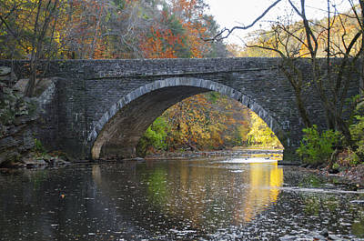 It's Autumn At The Valley Green Bridge Art Print by Bill Cannon