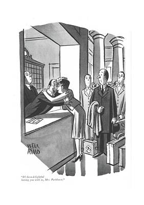 Drawing - It's Been Delightful Having by Peter Arno