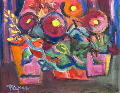 Fiesta Floral Still Life Original by Betty Pieper