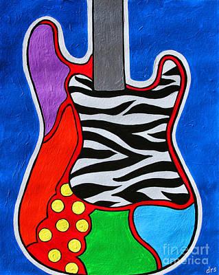 Painting - It's Electric Acrylic By Diana Sainz by Diana Raquel Sainz