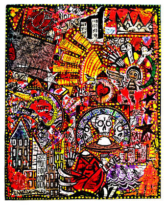 Valley Of Bones Art Print by Josh Brown
