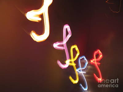 Photograph - It's I... I... And More Of I. Dancing Lights Series by Ausra Huntington nee Paulauskaite
