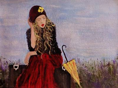Art Print featuring the painting It's Just A Dream... by Cristina Mihailescu