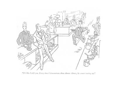 Storefront Drawing - It's Like I Told You. Every Time I Demonstrate by George Price