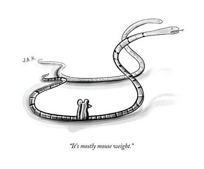 Snack Drawing - It's Mostly Mouse Weight by Jason Adam Katzenstein