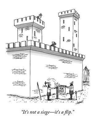 Properties Drawing - It's Not A Siege - It's A Flip by Tom Cheney