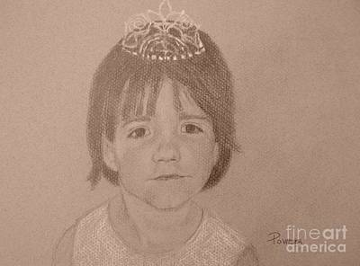 Art Print featuring the drawing It's Not Easy Being Queen by Mary Lynne Powers