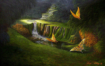 Art Print featuring the painting Peaceful by Loxi Sibley