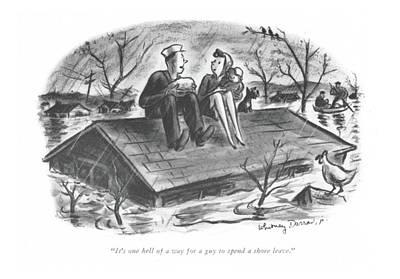 It's One Hell Of A Way For A Guy To Spend A Shore Art Print by Whitney Darrow, Jr.