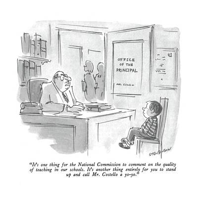 Teaching Drawing - It's One Thing For The National Commission by James Stevenson