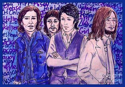 Painting - It's Only A Northern Song 2 by Joan-Violet Stretch