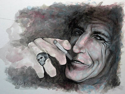 Mick Jagger And Keith Richards Painting - It's Only Rock And Roll by William Walts