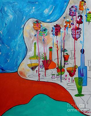 Art Print featuring the painting It's Party Time by Lyn Olsen