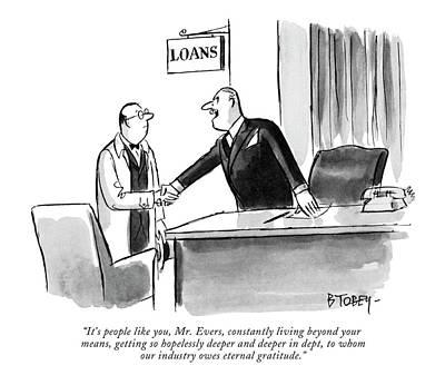 Debt Drawing - It's People Like by Barney Tobey