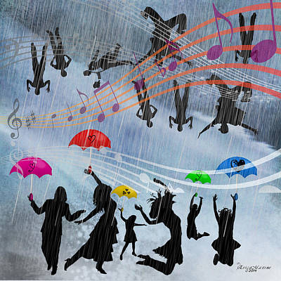 Digital Art - Its Raining Men Hallelujah by EricaMaxine  Price