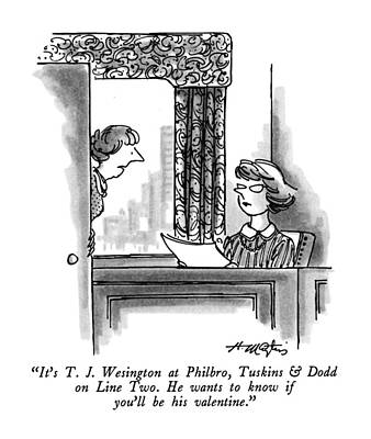 Drawing - It's T. J. Wesington At Philbro by Henry Martin